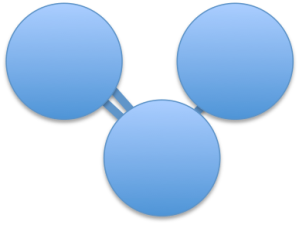 Ozone: a molecule made up of three oxygen atoms