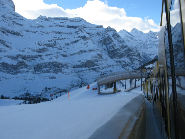Train heading up to the Jungfraujoch.