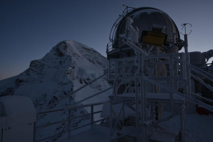 The cupola on the Jungfraujoch high alpine research station in Switzerland, where I did a campaign during my doctoral studies.Photograph courtesy of Christopher Hoyle.