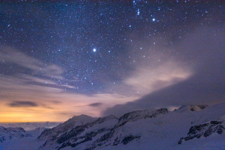 Starscape from the Jungfraujoch station. Photograph courtesy of Christopher Hoyle.