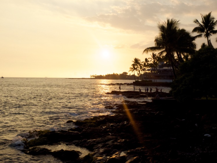 Sunset on Kona, Hawaii (credit: Christina Williamson)