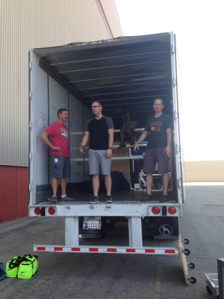 Loading the truck to go back to Colorado
