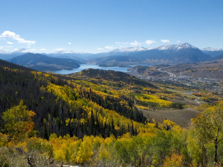 View from a hike above Silverthorne, Colorado, on the way between Boulder and Breckenridge (credit: Christina Williamson).