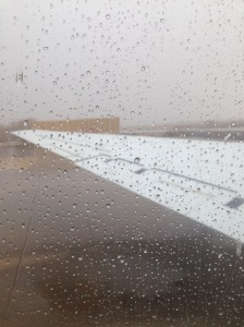 watching rain and snow from the DC8 on the ramp in southern california as we did EMI testing