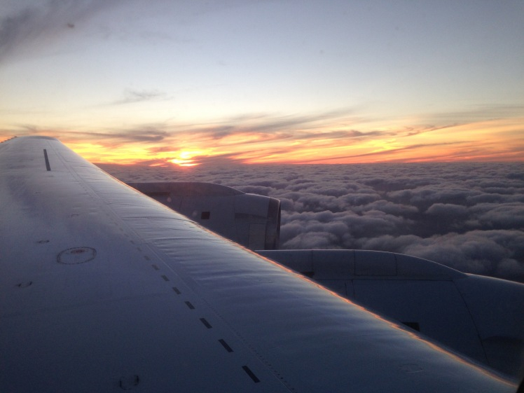Sunset seen from the DC8 on RF01