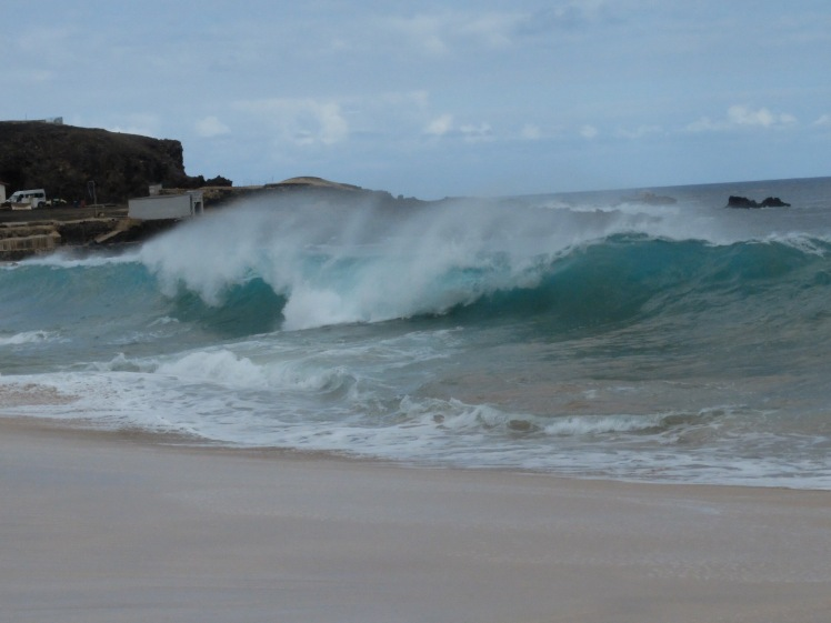 Waves on Long Beach, Ascension Island (credit: Christina Williamson)