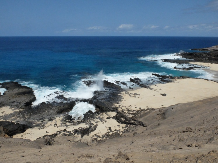 Blow hole on the northwest tip of Ascension Island (credit: Christina Williamson)