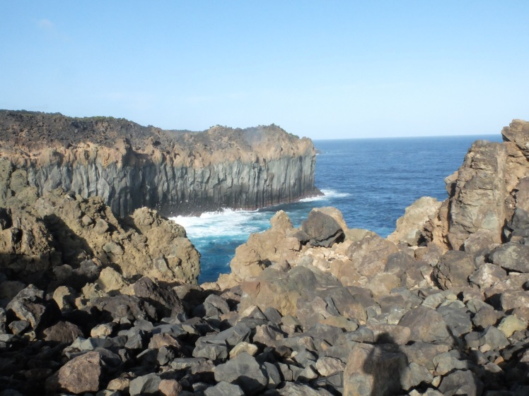 Cliffs on the coastline of Terceira, Azored (credit: Christina Williamson).