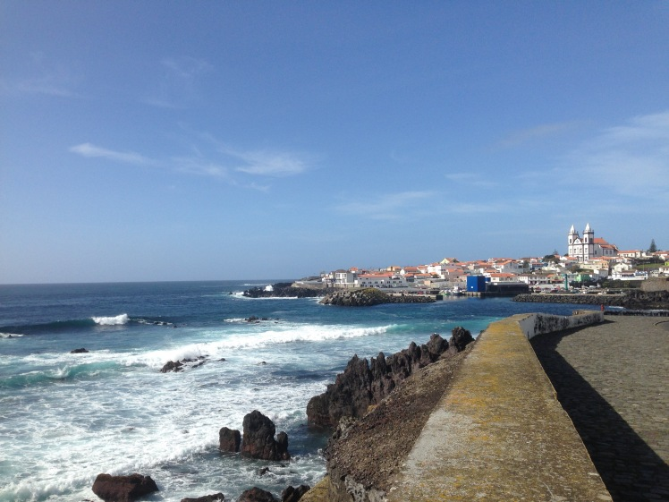 View of a small town along the coast on Terceira, Azores (credit: Christina Williamson).