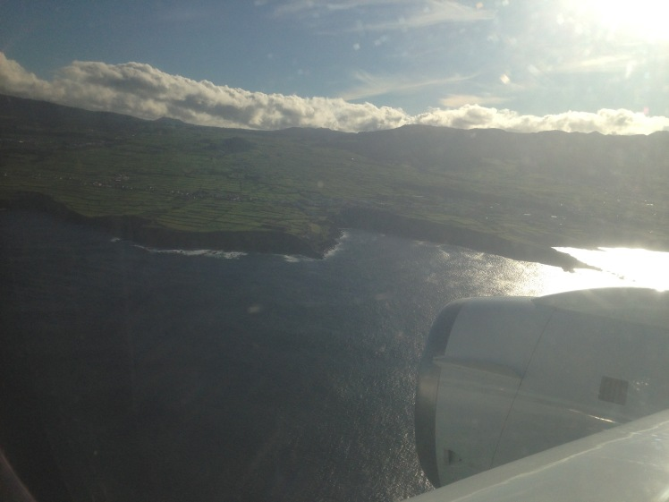 View of Ascension Island as we came in to land on the DC8 (credit: Christina Williamson).